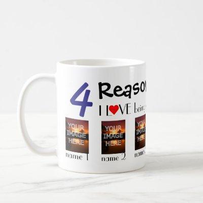 Custom Photo Reasons I Love Being A Dad Coffee Mug