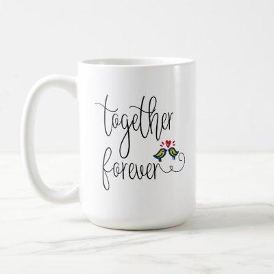 Custom Photo Romantic Love Birds Together Forever Coffee Mug