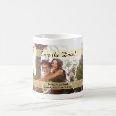 Custom Photo Wedding Save the Date Coffee Mug