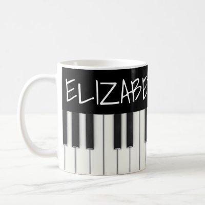 Custom Piano Keys Coffee Mug