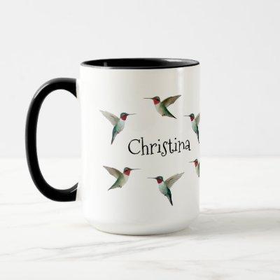 Custom Ruby-throated Hummingbirds Mug