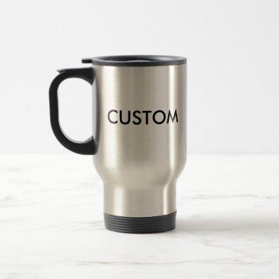 Custom Stainless Steel 15oz Travel (Commuter) Mug
