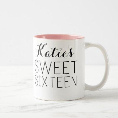 Custom Sweet 16 Favor Mug