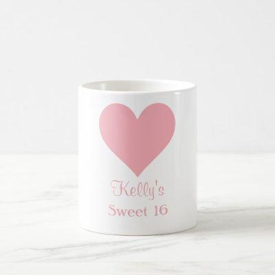 Custom Sweet 16 Mug Party Favor