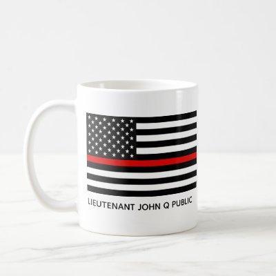 Custom Thin Red Line American Flag Coffee Mug