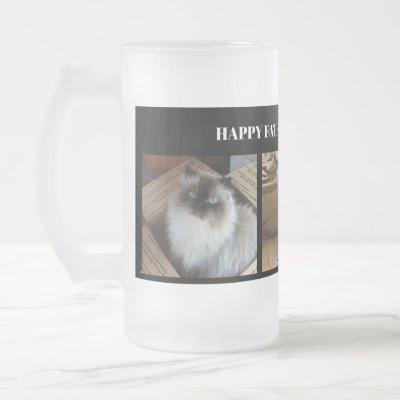 Custom Three Photo Happy Fathers Day Mug