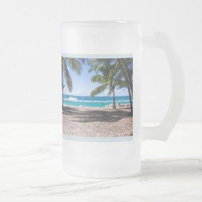 Custom Vacation PHOTO Personalize Beer Frosted Mug