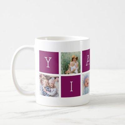Custom Yiayia Grandmother Photo Collage Coffee Mug
