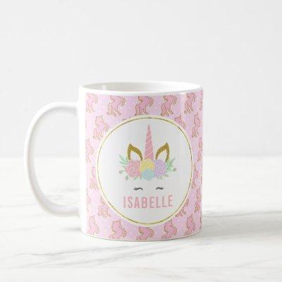 Customizabele Unicorn Hot Chocolate Mug for Kids