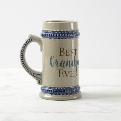 CUSTOMIZABLE Best Grandpa, Gramps, Papa, Ever, etc Beer Stein