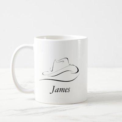 Customizable Coffee Mug With Cowboy Hat