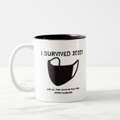 "Customizable ""I SURVIVED 2020!"" mug"