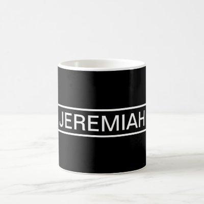 Customizable Text | Bold Modern Black & White Coffee Mug