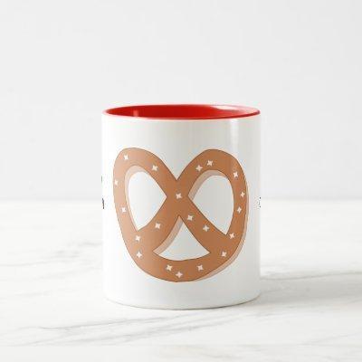 Customize this Pretzel Knot graphic Two-Tone Coffee Mug