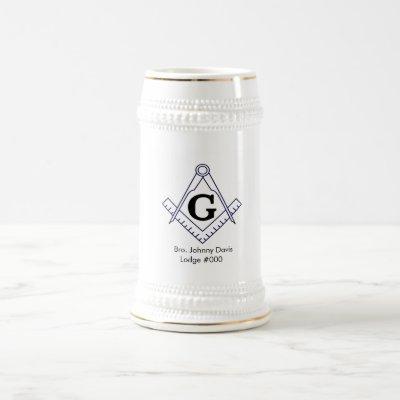 Customize your own Masonic Stein Glass