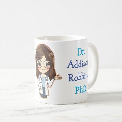 Customized Dr (Your Name) PhD Graduation Coffee Mug