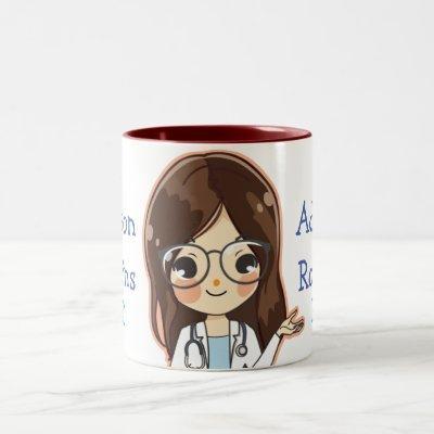 Customized Dr (Your Name) PhD Graduation Two-Tone Coffee Mug