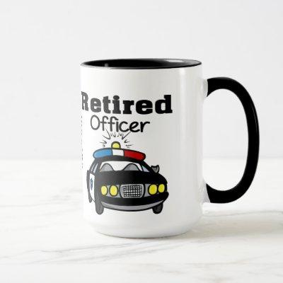 Customized Retired Police Officer Mug