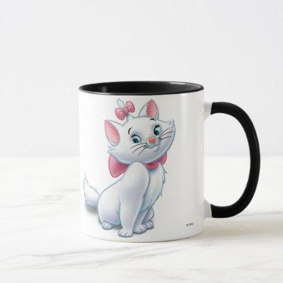 Cute Aristocats White and Pink Cat Disney Mug