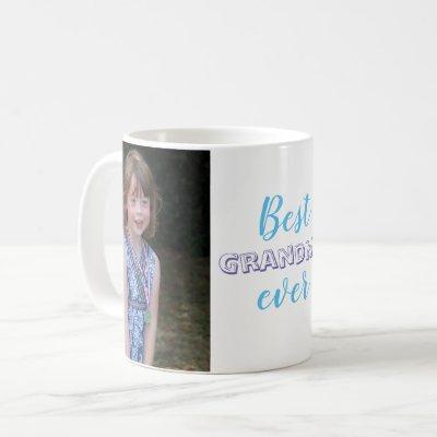 Cute Best Grandma Ever Custom Photo Coffee Mug