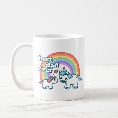 Cute Best Unicorn Dad Ever Coffee Mug