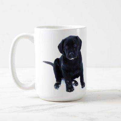 Cute Black Lab Labrador Retriever Dog Coffee Mug