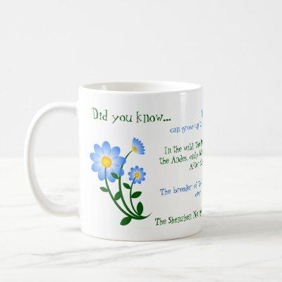 Cute Blue Flowers with Fun Facts Mug