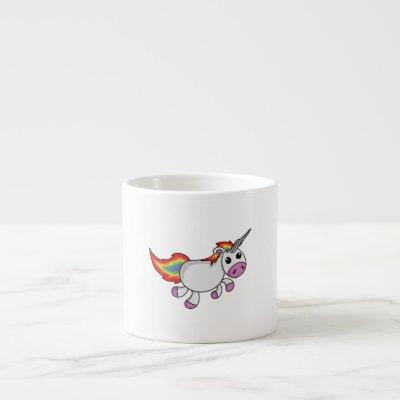 Cute Cartoon Unicorn Espresso Cup