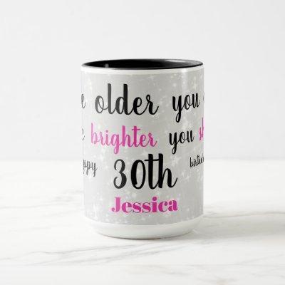 Cute Happy 30th Birthday Mug