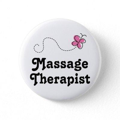 Cute Massage Therapist Button