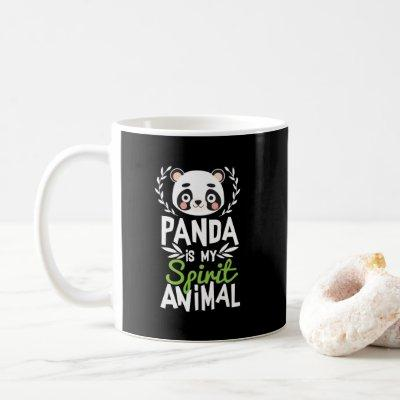Cute Panda Is My Spirit Animal Print Coffee Mug