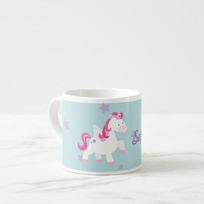 Cute Personalized Magical Unicorn Espresso Mug