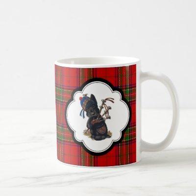 Cute Scottie Playing Bagpipes Coffee Mug