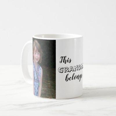 Cute This Grandma Belongs to Custom Photo Coffee Mug