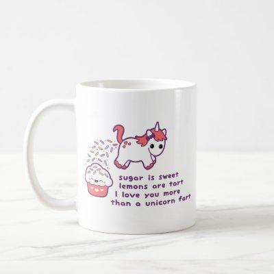 Cute Unicorn Fart Coffee Mug