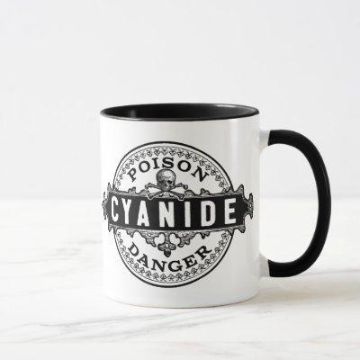 Cyanide Vintage Style Poison Label Mug