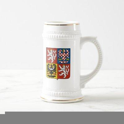 Czech Republic Coat of Arms Beer Stein