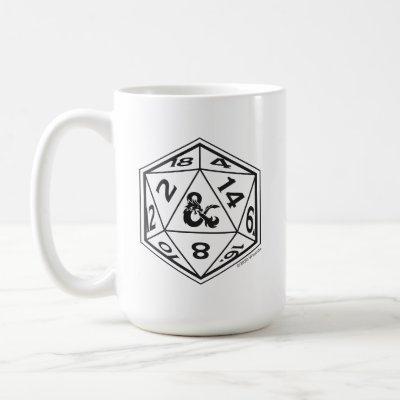 D&D D20 Ampersand Die Coffee Mug