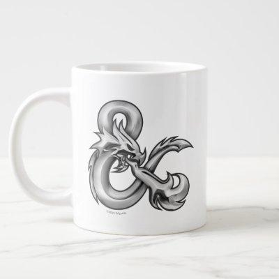 D&D Silver Ampersand Logo Giant Coffee Mug