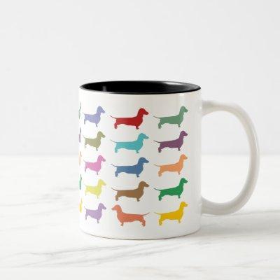 Dachshund Confetti Two-Tone Mug