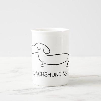Dachshund Love Bone China Mug
