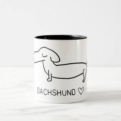 Dachshund Love Two-Tone Coffee Mug