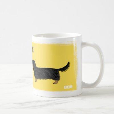 Dachshund Smooch Wiener Dogs Kiss Cute Cartoon Coffee Mug