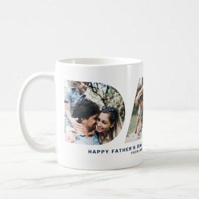 DAD Cutout Photo Collage Happy Father's Day Mug