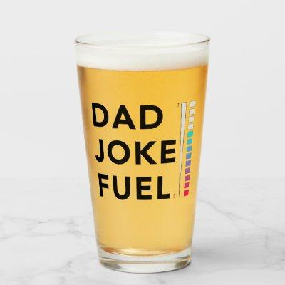 Dad Joke Fuel Funny Fathers Day Glass