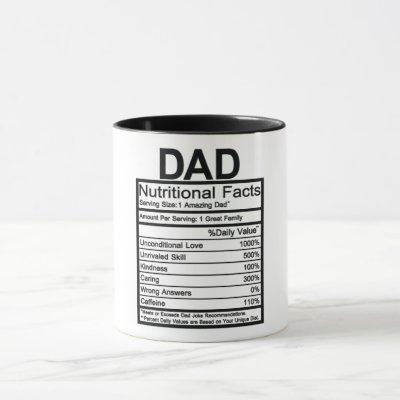 Dad Nutritional Facts Mug