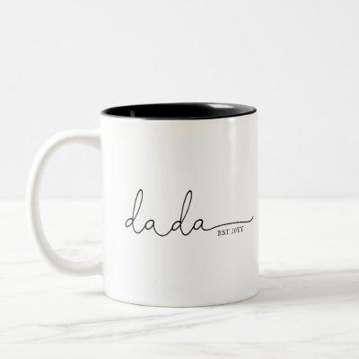 Dada Established | Dad Gift Two-Tone Coffee Mug