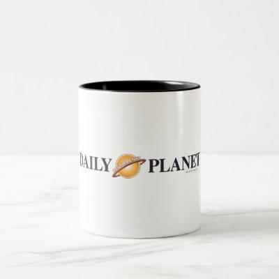 Daily Planet Logo Two-Tone Coffee Mug