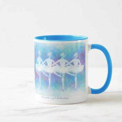 Dance magnetic cup of swan of four feathers
