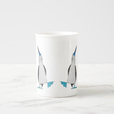 Dance of the Blue Footed Booby Bone China Mug